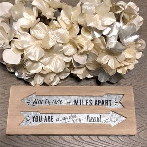 Side by Side or Miles Apart home decor